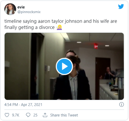 Aaron Johnson and Sam taylor are together for over ten years.