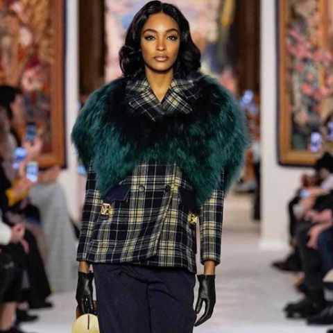 Jourdan Dunn was honored with the Glamour Award for Inspiration.