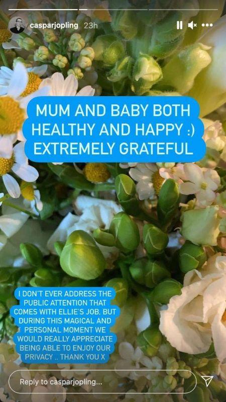 Ellie Goulding Welcomes First Child With Husband Caspar Jopling