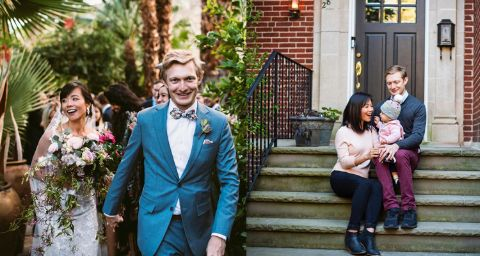 Travis Luther Lowe is happily married to his lovely wife Weijia Jiang.