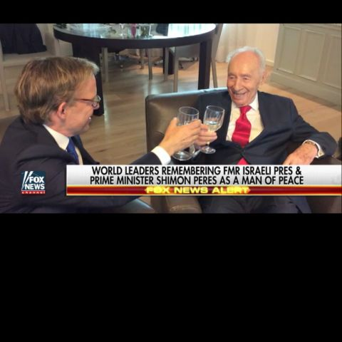Eric Shawn interviewing Shimon Peres.