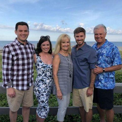 David Spunt with his family having fun.