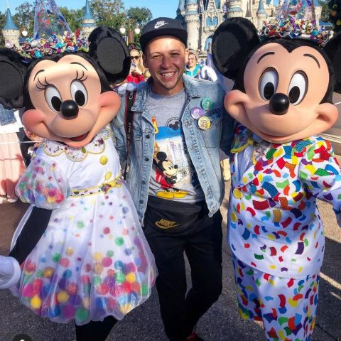 Robert Zepeda celebrate Mickey Mouse's 90th birthday while helping to raise money for 'Make a Wish Foundation'.
