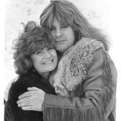 Sharon Osbourne and Ozzy in their young age.