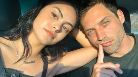 Camila Mendes sharing a screen space with her boyfriend Grayson Vaughan.