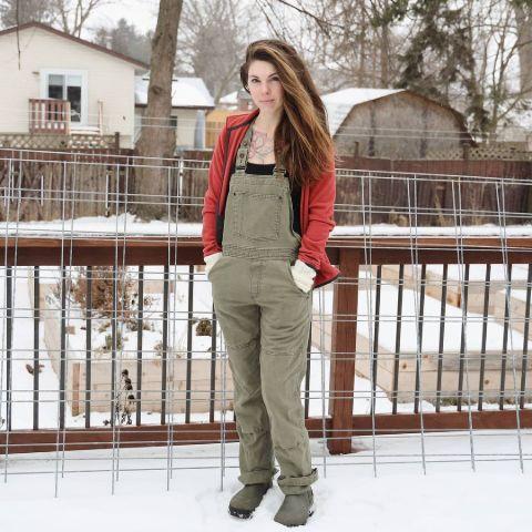 Amber Allen is enjoying in the snow.