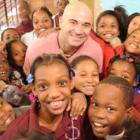 Andre Agassi contributed $35 million of his own money to the school.
