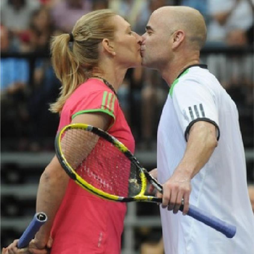 Andre Agassi dated Barbra Streisand in the early 1990s.