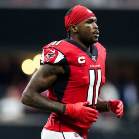 Julio Jones signed a four-year contract with the Falcons on July 28, 2011.