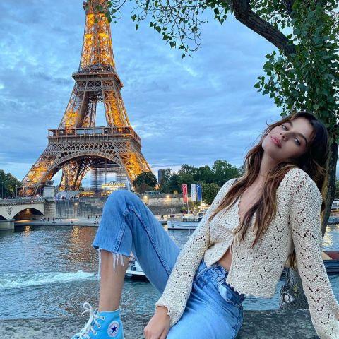 Sonia Ben Ammar is chilling in a Paris.