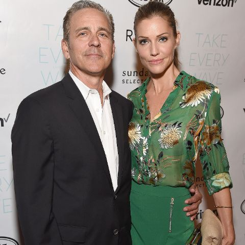 Tricia Helfer met Jonathan, who is a lawyer, at a birthday celebration for a mutual friend.