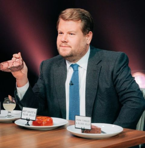 """James Corden's """"Spill Your Guts"""" segment is notorious for testing celebrities against complex foods to swallow."""