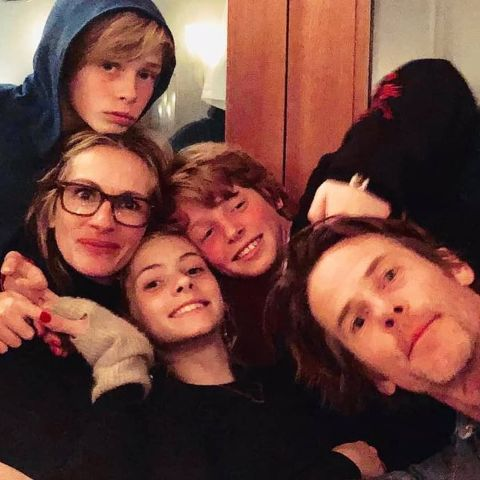 Hazel Moder is enjoying with her family.