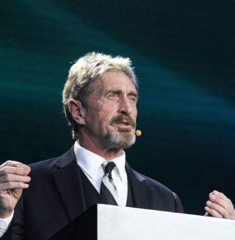 John McAfee first became notable and wealthy as the founder and CEO of the anti-virus software company McAfee.