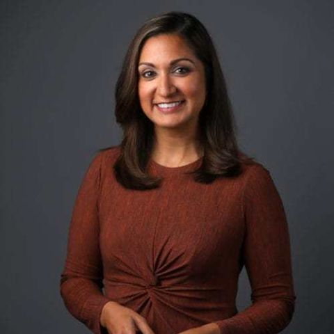 Amna Nawaz is a TV journalist from the United States.