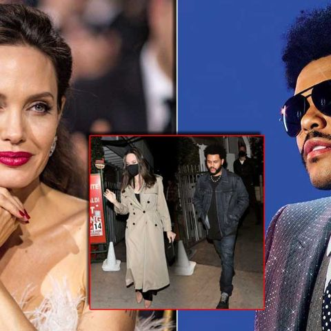 Angelina Jolie and singer The Weeknd were reportedly seen together during a romantic dinner date in Los Angeles Wednesday night
