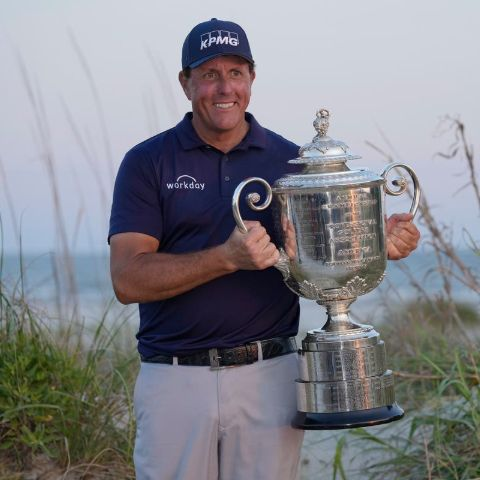 Phil Mickelson is an American professional golfer.