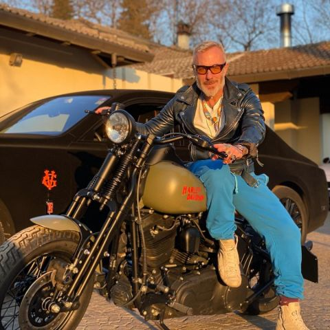 Gianluca Vacchi has a collections of bike.