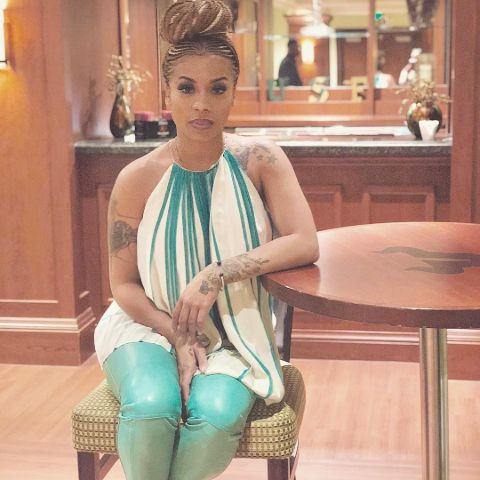 Keyshia Cole is living in her own house.