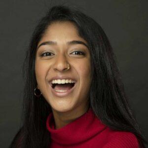 Maitreyi Ramakrishnan is Canadian actress.