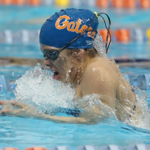 Ellie Zweifel is presently a member of Florida's swimming squad.