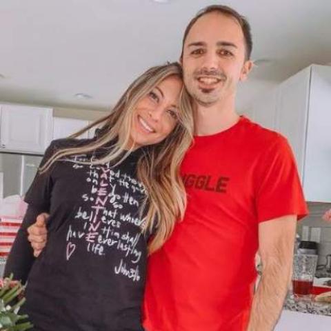 Amanda Markert with her husband Dan Frazier