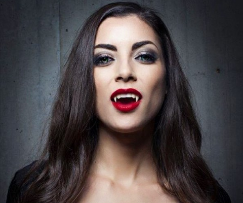 LeeAnne in a vampire makeover.