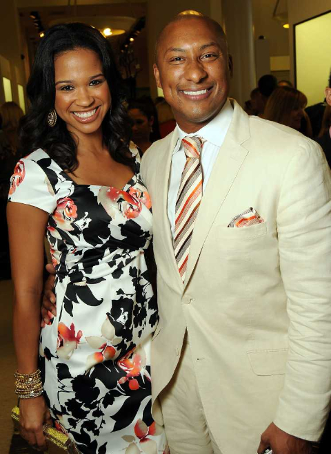 Mia and her husband Troy photographed  together.