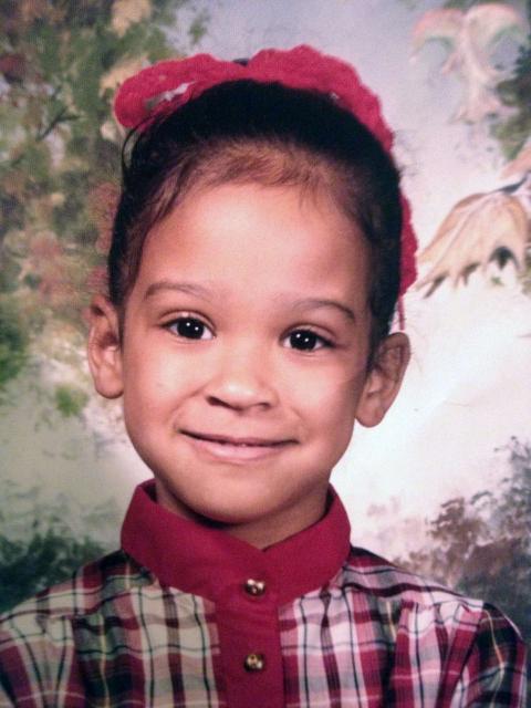Young Mia Gradney in her elementary school years