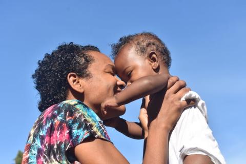 Syesha Mercado with her son, Amen'Ra.
