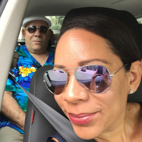 Selenis Leyva and her late father.