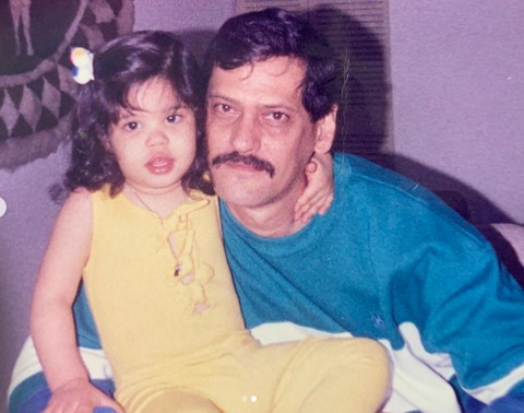 kid Otmara with her stepfather.