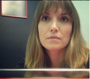 Lorene Scafaria's selfie.