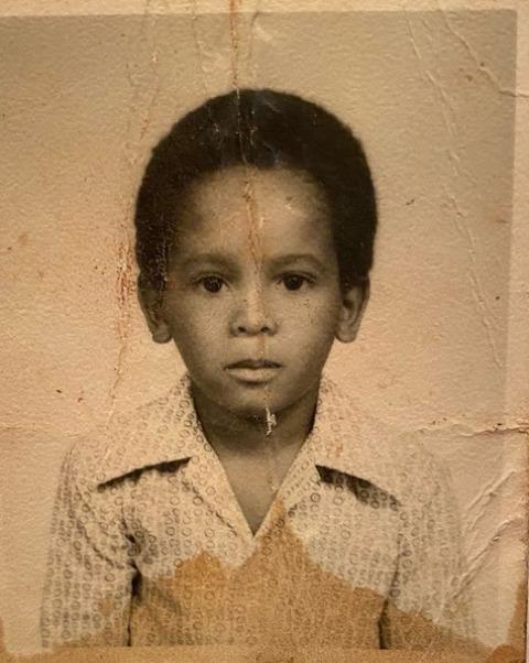 Rohan Marley as a small kid.
