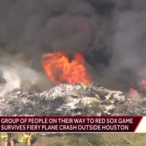 Plane carrying Red Sox and Astros fan crashed near Houston.